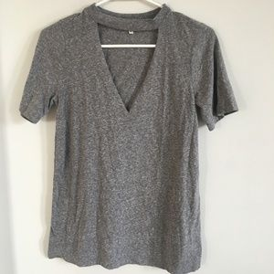 Truly Madly Deeply Gray Cut-Out Tee